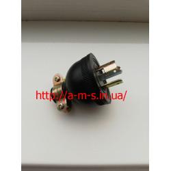 Вилка (штекер)  для генератора силовая 20 Ампер